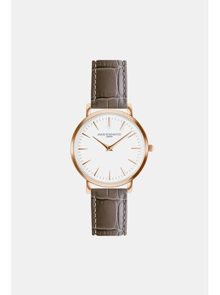 Dámske hodinky s hnedým koženým remienkom Annie Rosewood