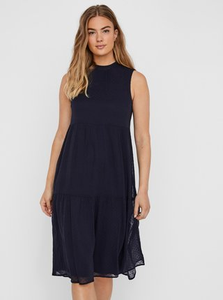 Tmavě modré šaty VERO MODA Damla