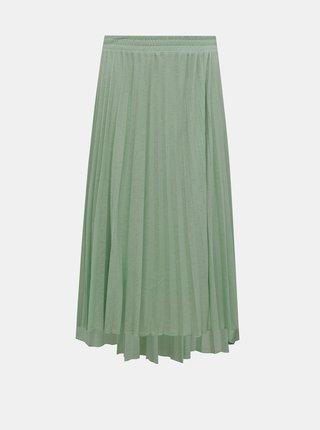 Zelená plisovaná midi sukňa ONLY Paradise