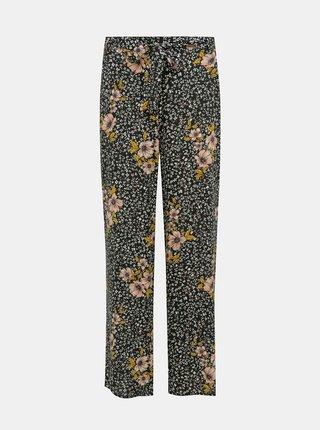 Čierne kvetované nohavice ONLY Nova