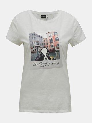 Bílé tričko s potiskem ONLY Peanuts