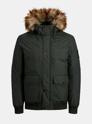 Khaki zimní bunda Jack & Jones Sky