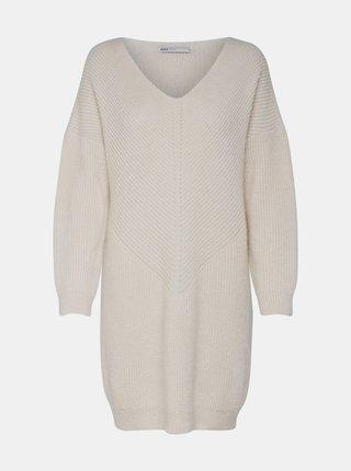 Krémové svetrové šaty ONLY Jada