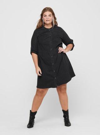 Čierne košeľové šaty ONLY CARMAKOMA