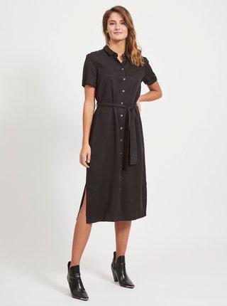 Čierne košeľové šaty .OBJECT Tilda