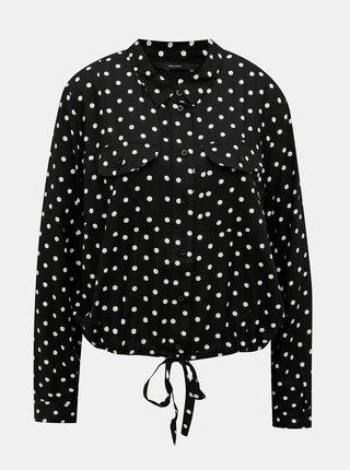 Černá puntíkovaná košile VERO MODA CURVE