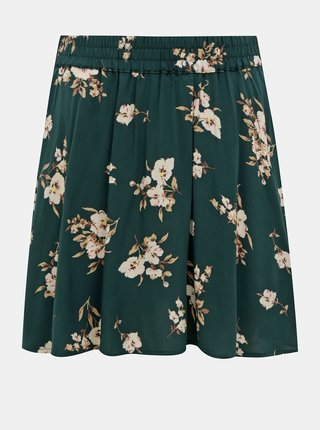 Zelená kvetovaná sukňa VERO MODA