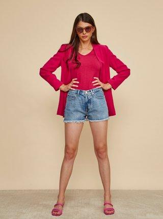Tmavě růžové dámské basic tričko ZOOT Baseline Lia