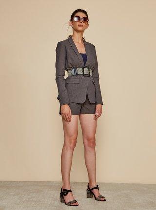 Béžové dámské pruhované sako s příměsí lnu ZOOT Dorothy