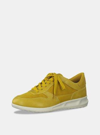Žluté tenisky se semišovými detaily Tamaris