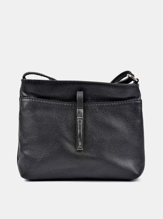 Čierna kožená crossbody kabelka Roberta M
