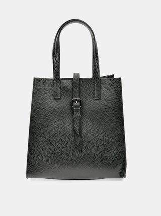 Černá kožená kabelka Anna Luchini