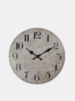 Šedé nástenné hodiny Clayre & Eef