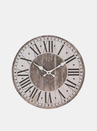 Hnedé nástenné hodiny Clayre & Eef
