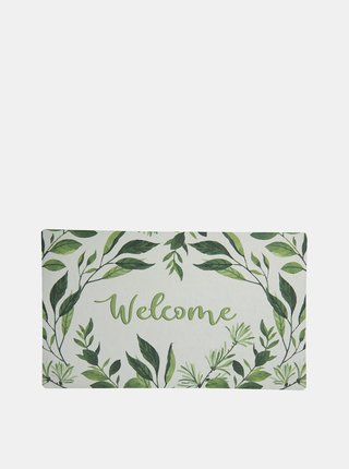 Zeleno-biela vzorovaná rohožka Clayre & Eef