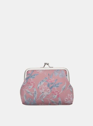 Ružová kvetovaná malá peňaženka Clayre & Eef