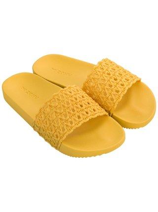 Zaxy žluté pantofle Snap Mesh Slide Fem Yellow