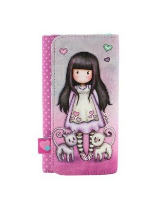 Santoro růžová peněženka Gorjuss Tall Tails