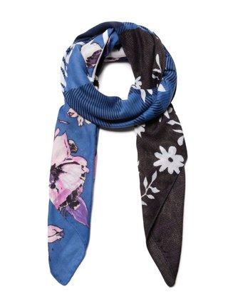 Desigual modrý šátek Foul Yesquere