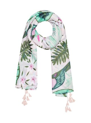 Moodo barevný šátek s květy a listy