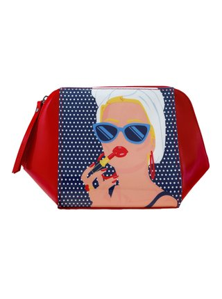 Santoro červená kosmetická taška First Class Lounge Lady Red