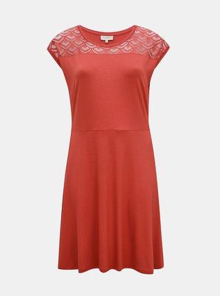Růžové šaty ONLY CARMAKOMA Flake