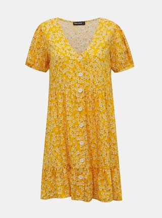 Žlté kvetované šaty TALLY WEiJL