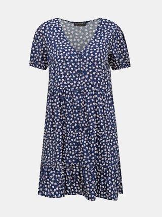 Modré kvetované šaty TALLY WEiJL