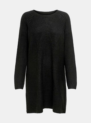 Čierne svetrové šaty ONLY Carol