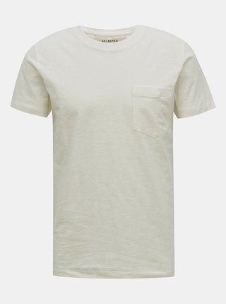 Biele basic tričko Selected Homme Jared