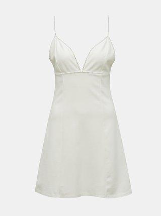 Biele šaty s ozdobnými detailmi TALLY WEiJL