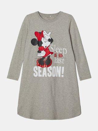 Šedá dievčenská nočná košeľa name it Minnie
