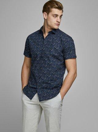 Tmavomodrá vzorovaná košeľa Jack & Jones