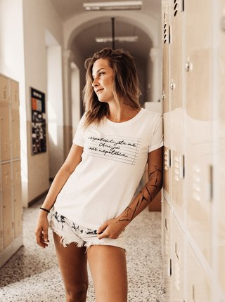 Bílé dámské tričko ZOOT Original Nepotěšili jste mě