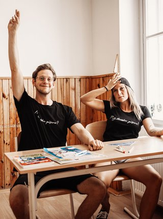 Černé pánské tričko ZOOT Original My dneska píšeme?