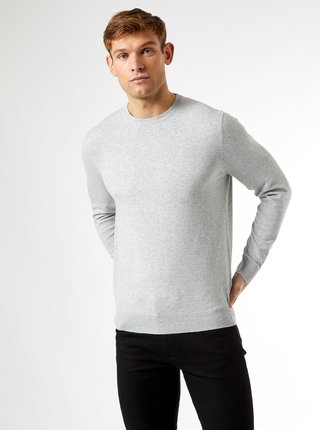 Svetlošedý sveter Burton Menswear London