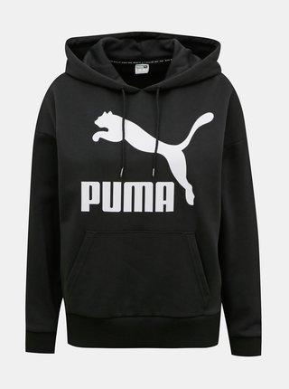 Čierna dámska mikina s kapucou Puma