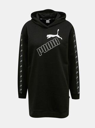 Čierne mikinové šaty s kapucou Puma