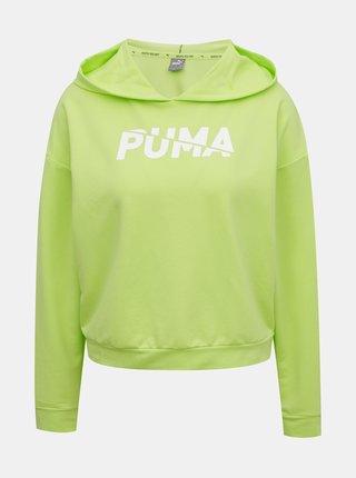 Zelená dámská mikina s kapucí Puma