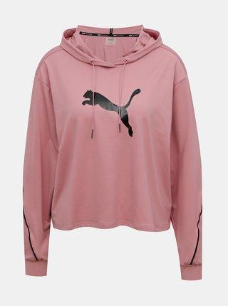 Růžová dámská mikina s kapucí Puma