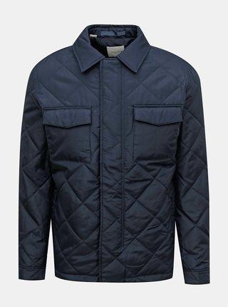 Tmavě modrá prošívaná bunda Selected Homme