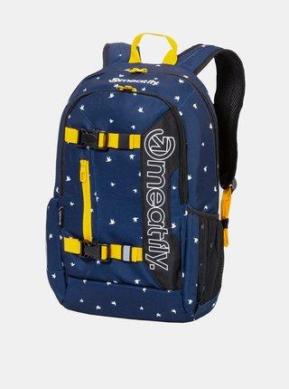 Tmavě modrý vzorovaný batoh Meatfly Basejumper