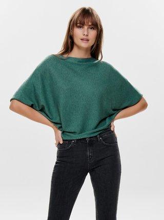 Zelený voľný svetrový top Jacqueline de Yong
