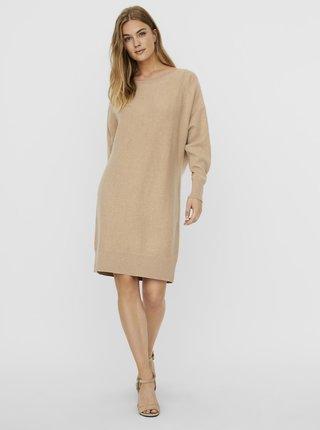 Béžové svetrové šaty Noisy May