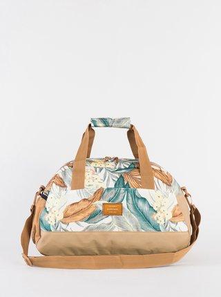 Krémovo-béžová vzorovaná cestovná taška Rip Curl