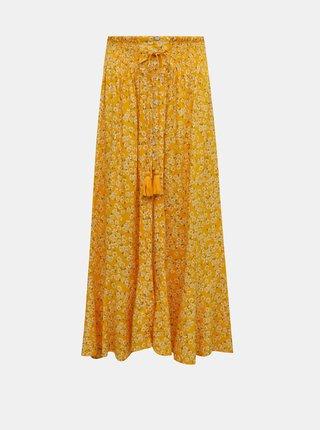 Žltá kvetovaná maxi sukňa TALLY WEiJL