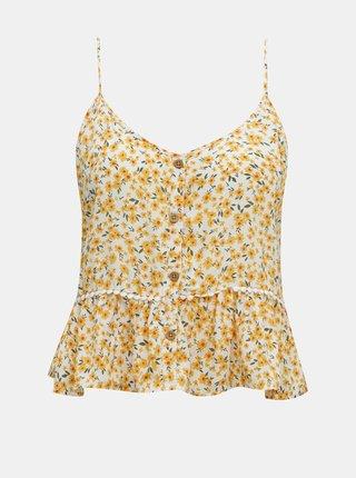 Žlutý květovaný top TALLY WEiJL