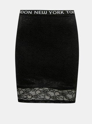 Čierna púzdrová sukňa s krajkou TALLY WEiJL