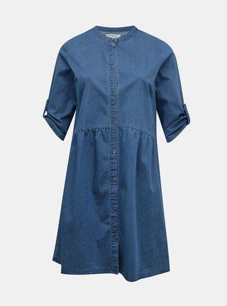 Modré košeľové rifľové šaty ONLY CARMAKOMA Chicago