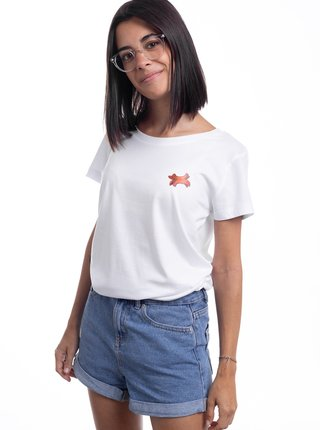 Biele dámske tričko ZOOT Original Buřtík